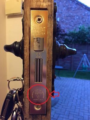 British Standard Mortise Lock Fitted by Lockforce Locksmiths in Beverley